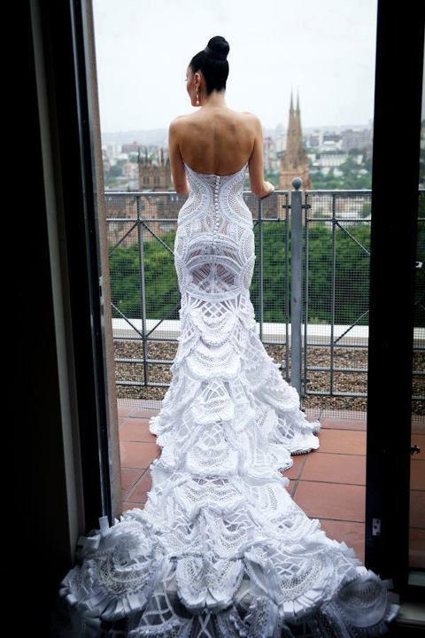 crochet wedding dress wedding dresses: ju0027aton couture ZKRKADN