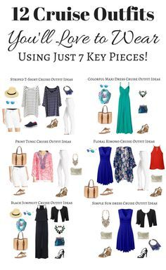 cruise wear 12 cruise outfits youu0027ll love to wear using just 7 key pieces! XPVZKHW
