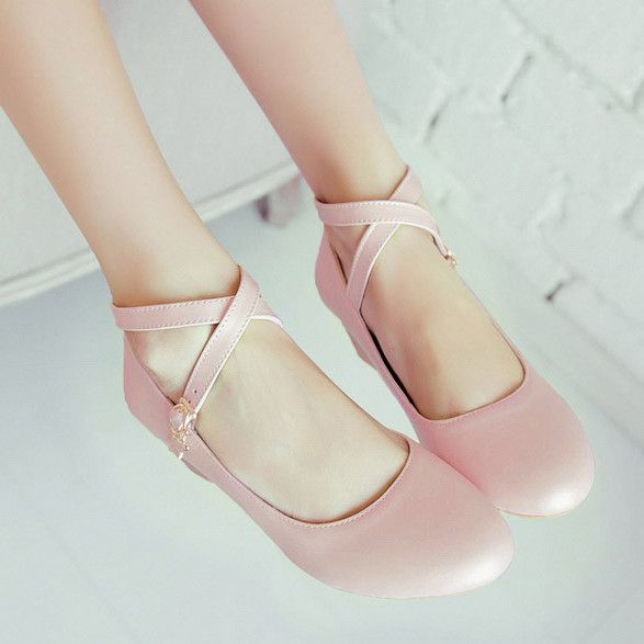 cute shoes cute ballet criss cross flats VQWJLLE