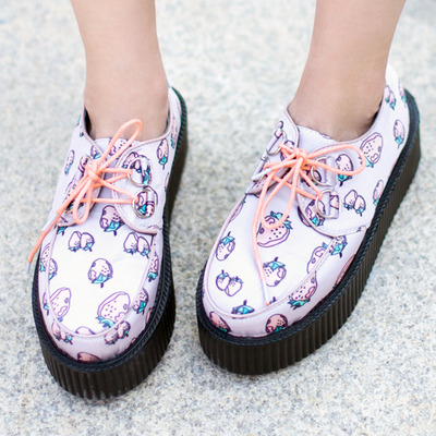 cute shoes cute harajuku strawberry platform shoes · cute kawaii {harajuku fashion} ·  online store powered NBYYXOK