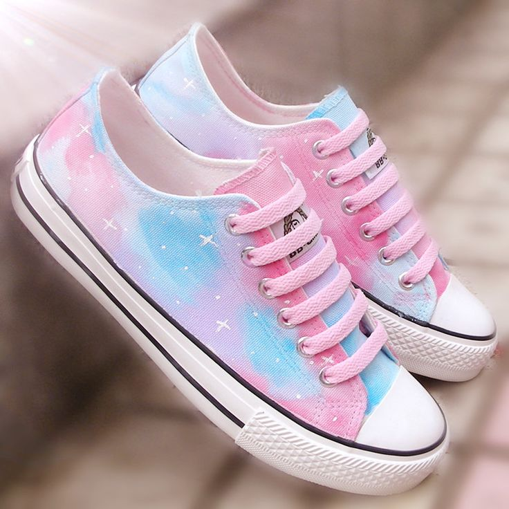 cute shoes harajuku star-painted canvas shoes UCFRLOX