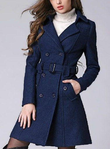 deep blue / pink /apricot wool women coat women dress coat spring autumn  winter LQWQMRT