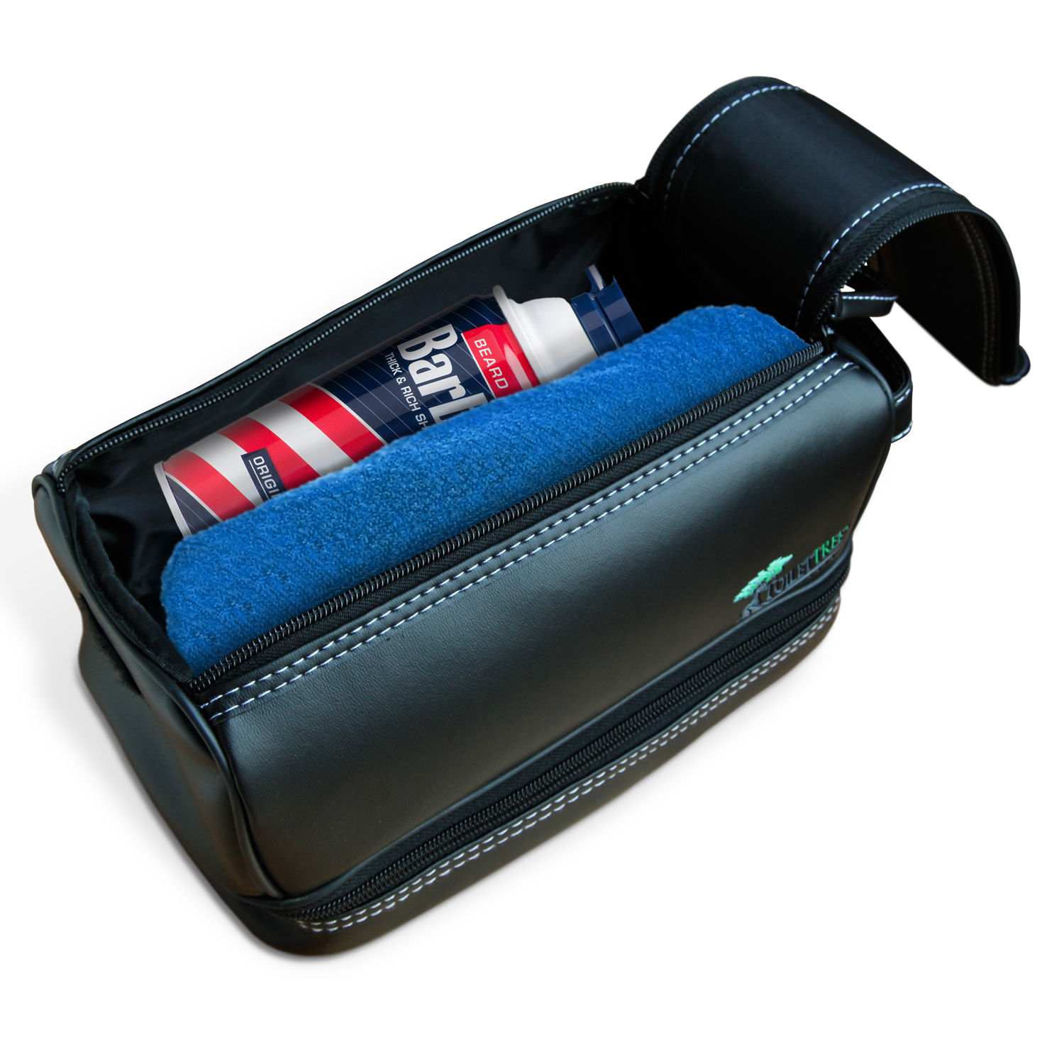 deluxe toiletry bag with 3 bottles toiletry bag ... ULKGNJE