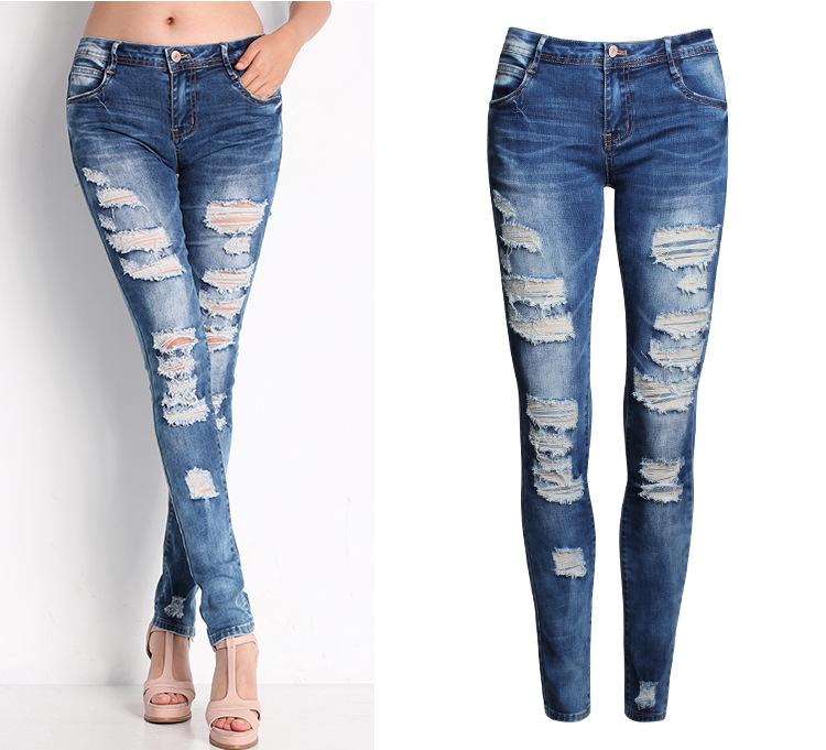 denim jeans aliexpress.com : buy 2045 new 2017 hot fashion ladies cotton denim pants  stretch womens MOHMFXQ