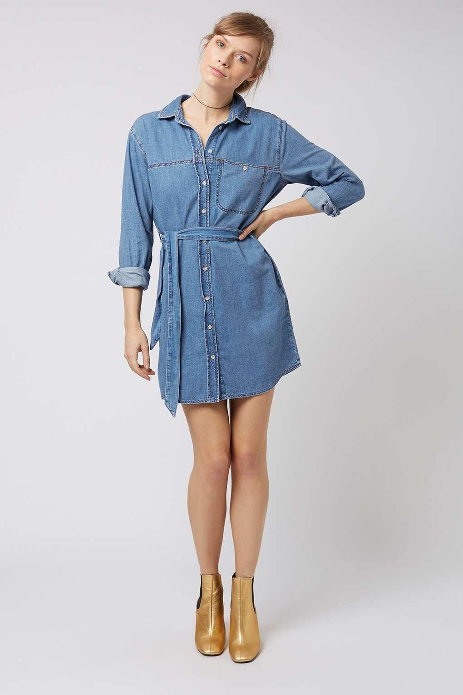 denim shirt dress moto denim shirtdress - how to wear this seasonu0027s key denim pieces - we LQRFQSY