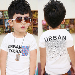 designer baby clothes baby clothes children t-shirt boys designer clothes white color 100% cotton  short fashion free IGYYOVZ