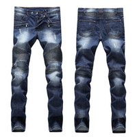 designer jeans - men s distressed ripped skinny jeans fashion designer mens  shorts jeans WNPPZOV