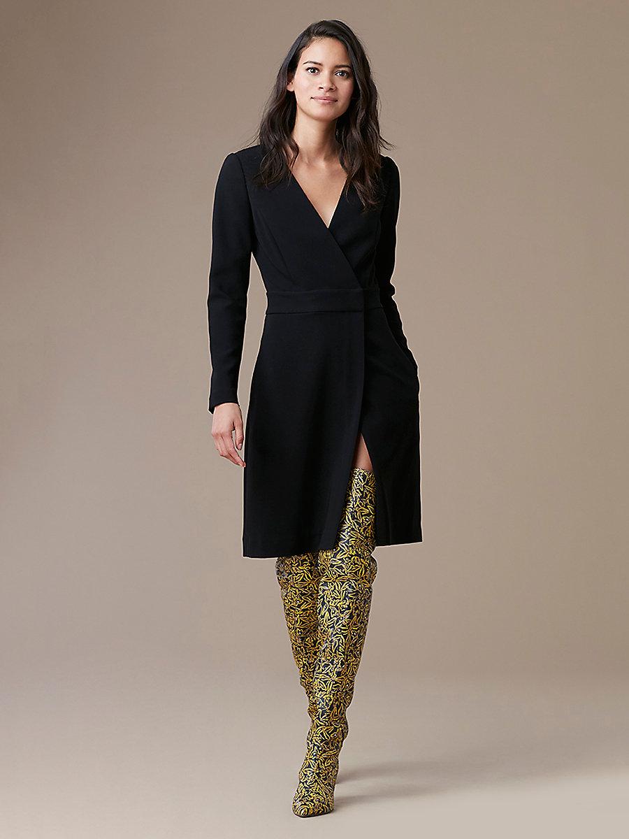 diane von furstenberg wrap dress long sleeve a-line wrap dress in black by dvf ... NIVOVEK