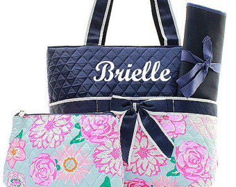 diaper bags for girls diaper bag baby diaper bag personalized diaper bag monogrammed navy floral diaper  bag embroidery AAREHMH