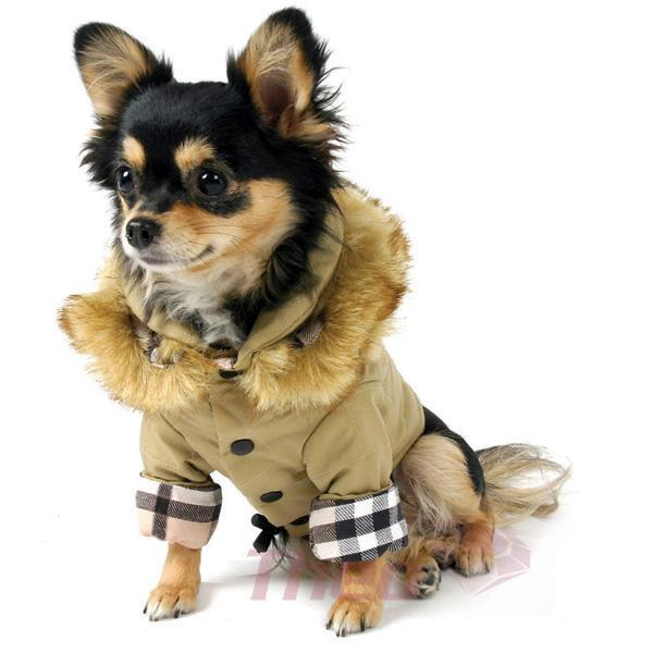 dog jackets 5 eskimo_dog_coat_khaki. #6 - classic houndstooth dog coat BYOUDFI