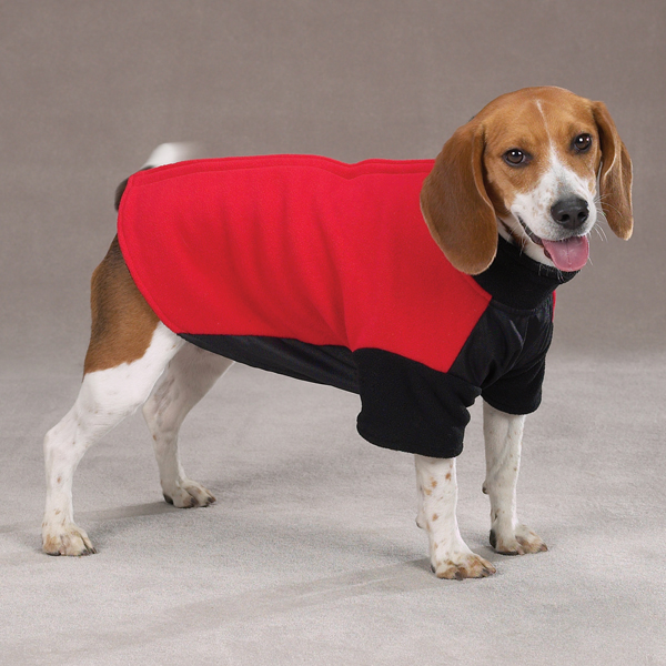 dog jackets dog jacket - guardian gear red fleece with velcro backs ... MUZKJPC