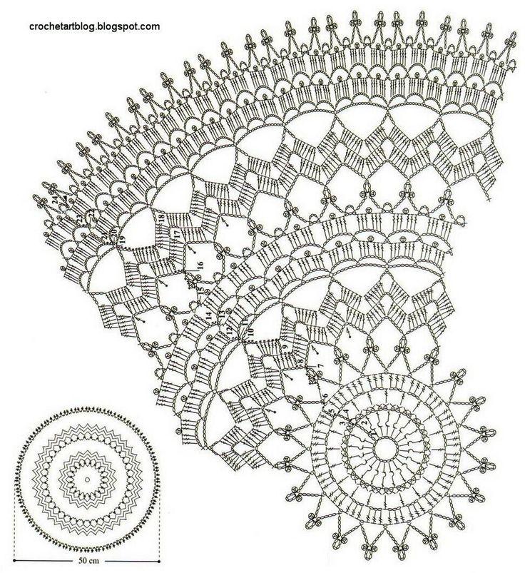 doily patterns crochet art: crochet doily - free crochet pattern DGEDUSZ