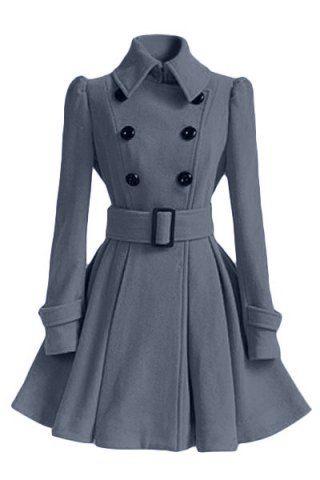 dress coat hooded denim parka coat FXQAHUG
