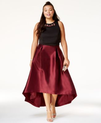 Dresses for plus size women city chic trendy plus size embellished high-low dress ARNDRDW