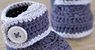 easy crochet baby booties patterns for crochet baby booties CMOWQPQ