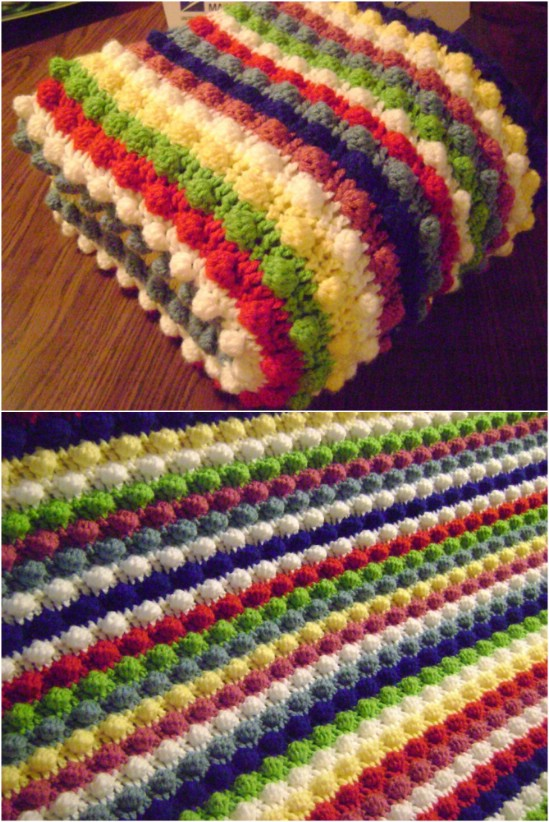 easy crochet blanket blackberry salad striped afghan IBULJMX