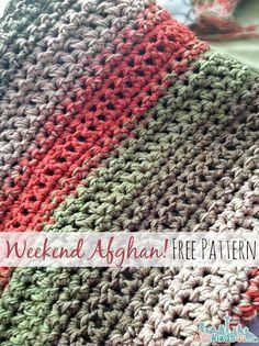 easy crochet blanket free pattern: fast and easy crochet throw (2 stripe options) MWBSKRY