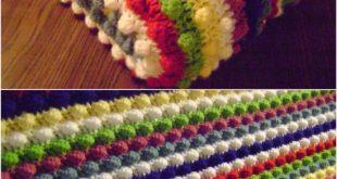 easy crochet blanket patterns blackberry salad striped afghan OOEVCQA