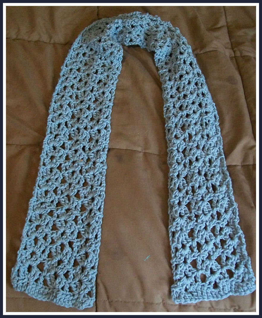 easy crochet scarf patterns crochet video tutorial: easy crochet lace shell scarf. lace shell scarf  pattern OVRAWFD