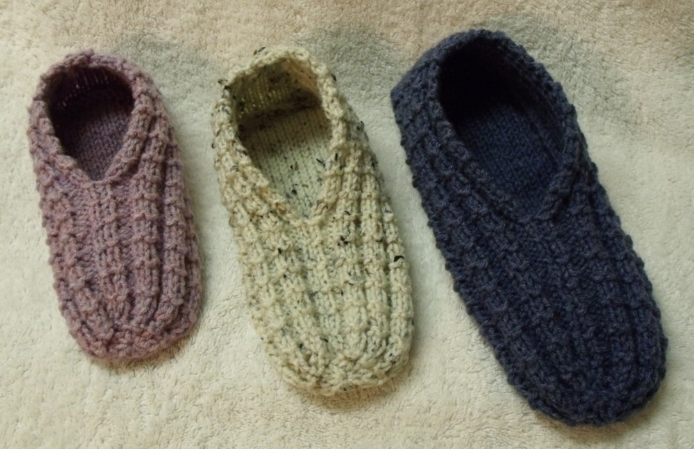 easy to knit slippers YUVQSVM