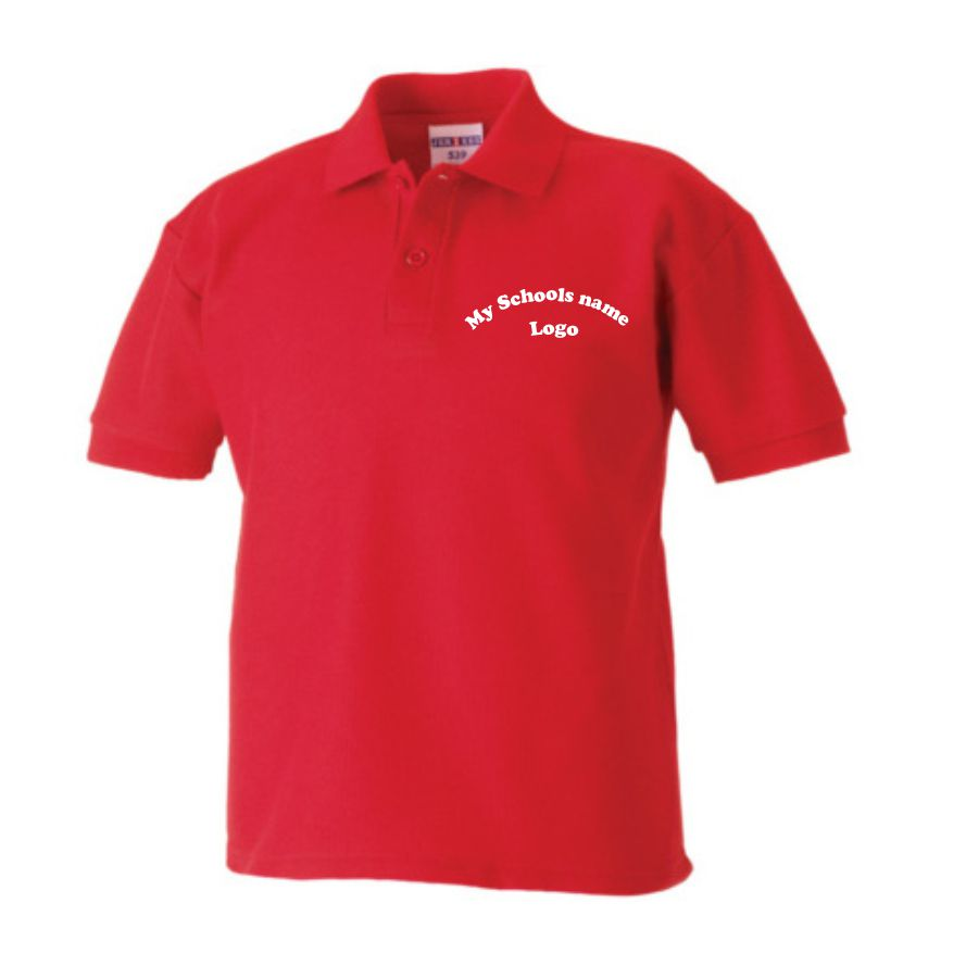 Design your own embroidered polo shirts