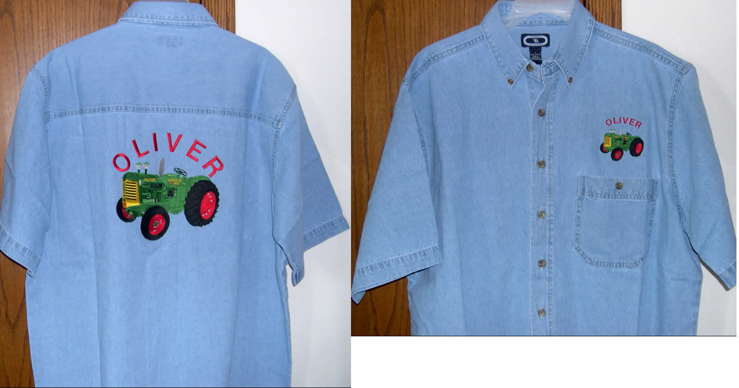 embroidered shirts denim shirt with large design embroidered on back BBWBSFG