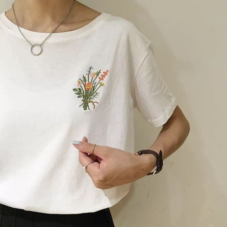 embroidered shirts embroidered flowers tee from hhotaru HMXZKFE