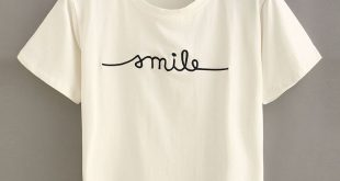 embroidered shirts letter embroidered short sleeve t-shirt SYXOUAX