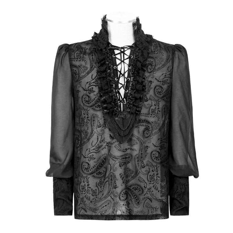 emo clothing aliexpress.com : buy punk rave men gothic kera black shirt sexy rock party  cosplay ISNCCJA