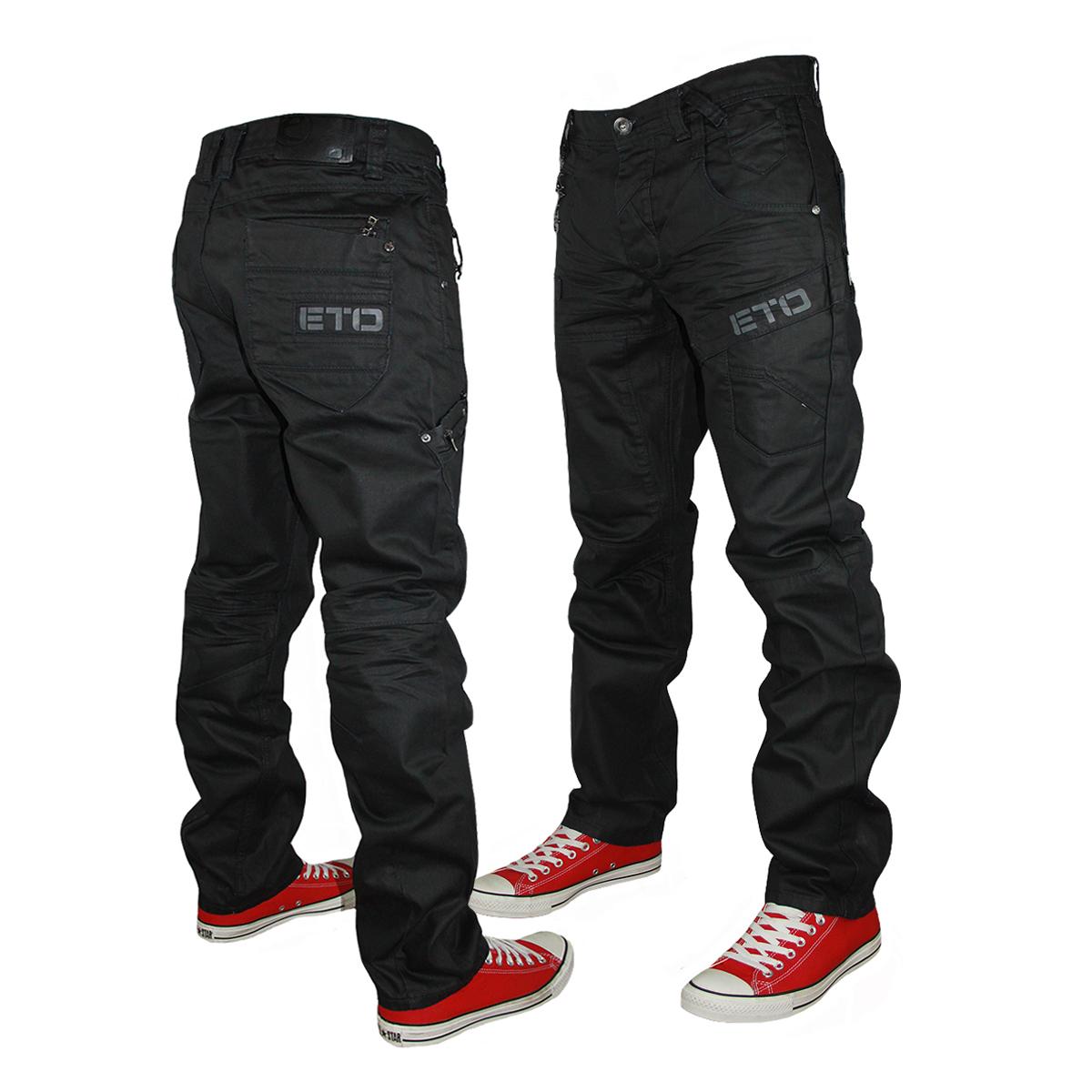 eto jeans new-mens-black-eto-jeans-em367-designer-straight- IEHJWES