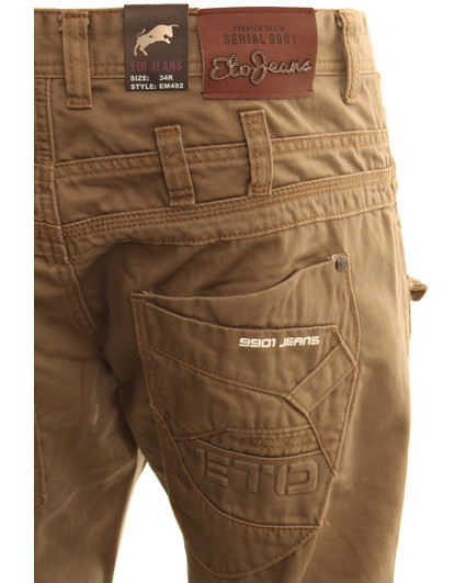 eto jeans stone cargo chino - short WTWFEMO
