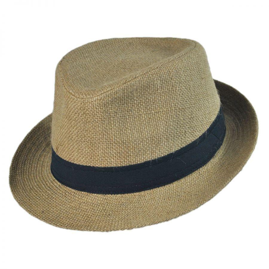 fedora hats jute fabric fedora hat QAQOXJL