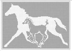 filet crochet patterns fantasy pegasus flying horse filet LSSCNMO