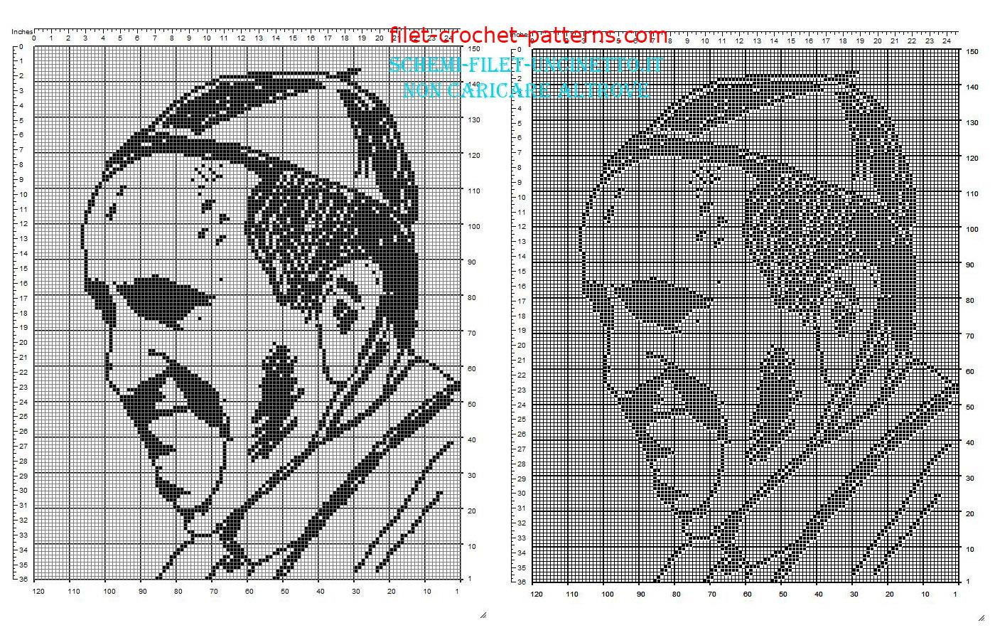 filet crochet patterns pope francis face free filet crochet pattern download IDRKPHN
