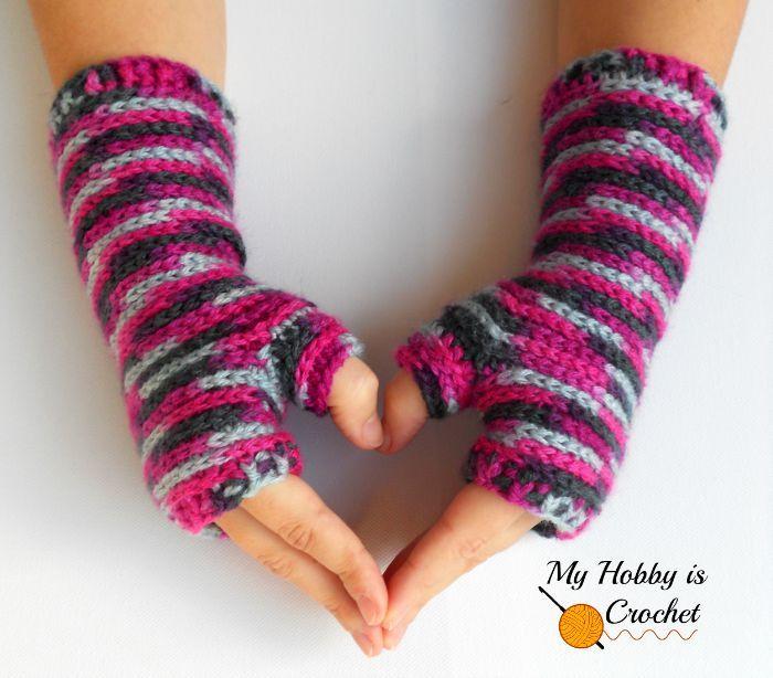 fingerless gloves crochet pattern bella bricks fingerless mitts by my hobby is crochet WLRRKTF