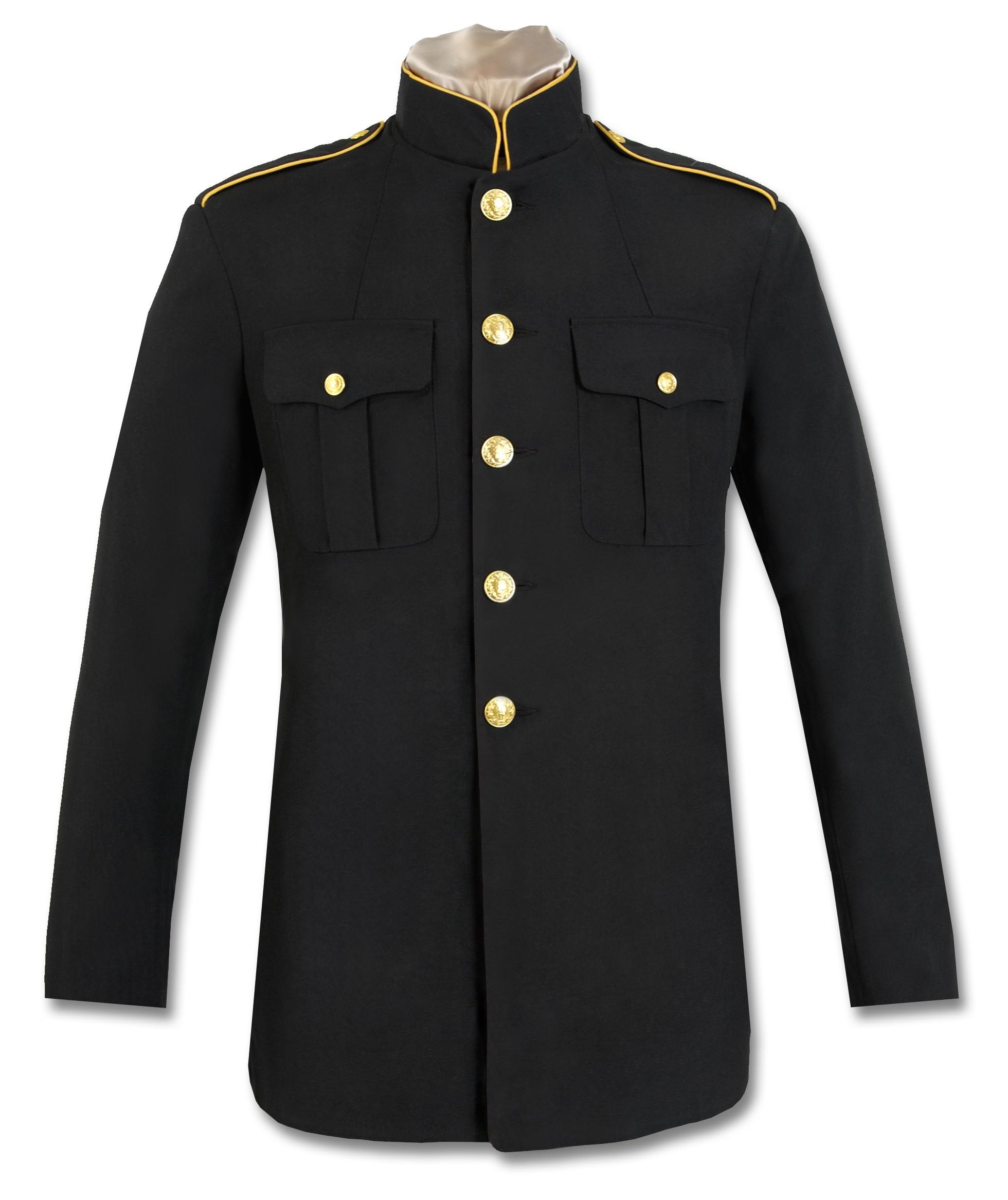 first responder high-collar dress coat DUBMUGA