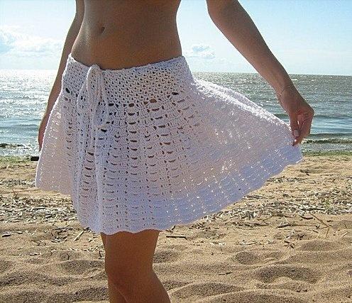 flared white skirt free crochet graph pattern. several cute crochet skirt  patterns. great blog EBZLEHQ
