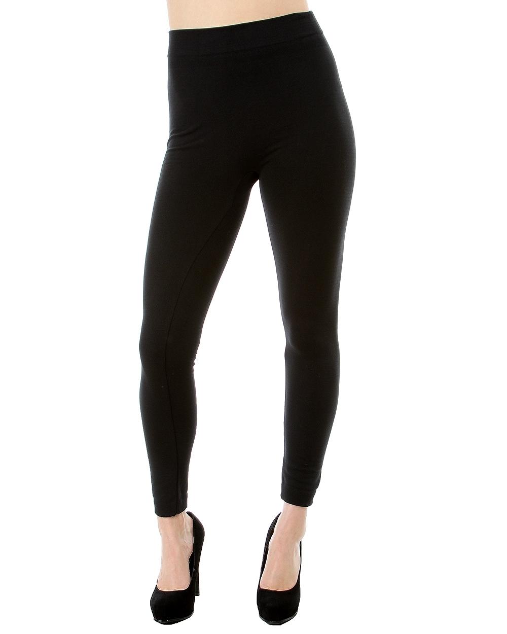 fleece leggings black plus size fleece lined leggings IHVTQXP