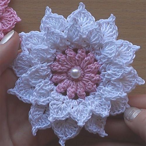 flower crochet pattern crochet flower - very easy tutorial (crochet for children) PLIXEYI