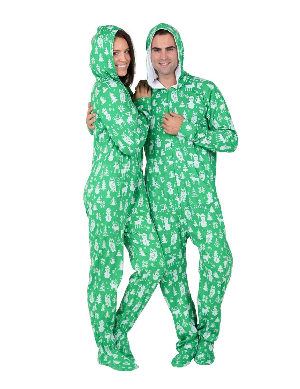 footie pajamas nordic christmas pajamas ©footed pajamas RDZXOHC