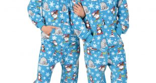 footie pajamas winter wonderland hooded footed pajamas KFXPEUK