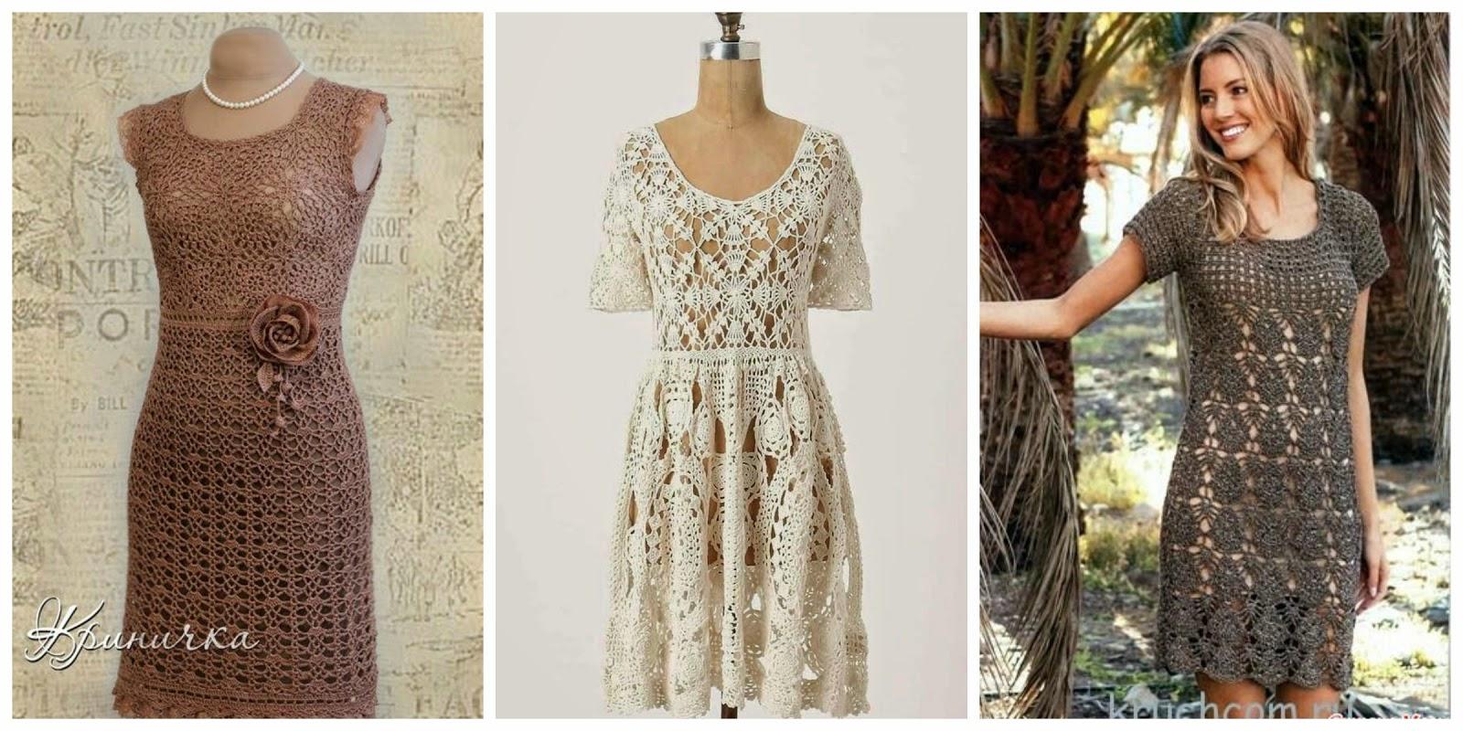 free crochet dress patterns 15 crochet dresses - free patterns and charts XQSWGUF