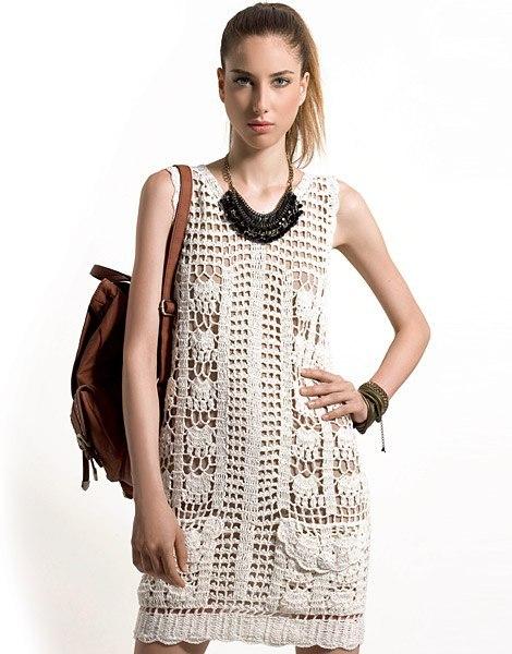 free crochet dress patterns tank style summer dress crochet pattern IKKLUSA