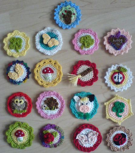 free crochet pattern crochet buttons german english download ravelry ZTCXQIH