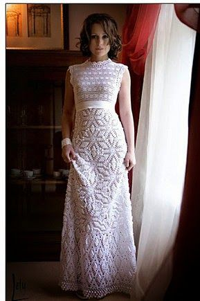 free crochet patterns and video tutorials: how to crochet wedding dress  pattern tutorial PKSTZNX