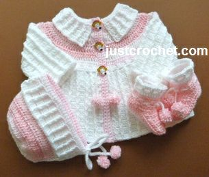 free crochet patterns for babies free baby crochet pattern for three piece outfit http://www.justcrochet. WBDXTQI