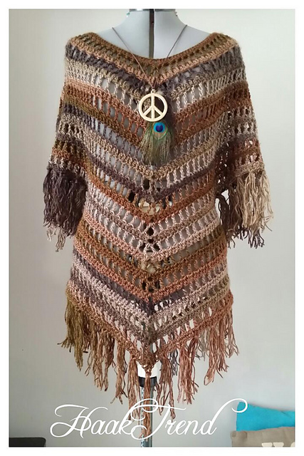 free crochet poncho patterns boho fringed poncho free pattern KPEKSRM