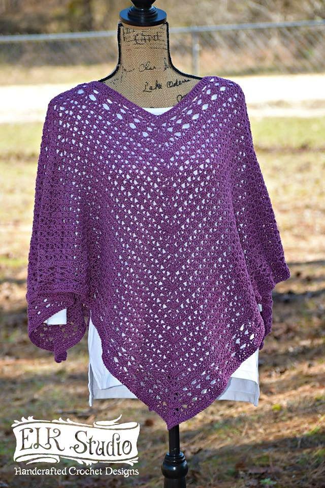 free crochet poncho patterns southern diamonds poncho by kathy lashley - free crochet pattern - (ravelry) FFBUYHM