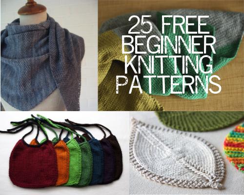 free knitting patterns for beginners 25 free beginner knitting patterns from paintinglilies.com #knitting #yarn ZRDBOKK