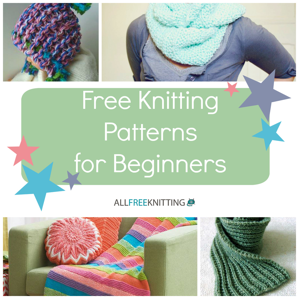 free knitting patterns for beginners knitting for beginners: 54 easy knitting patterns | allfreeknitting.com PCYGYJS